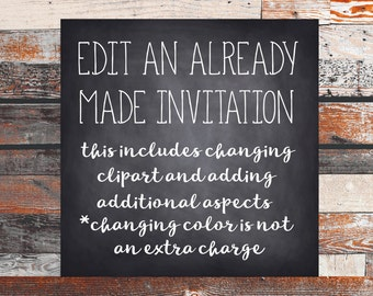 Edit an exisiting invitation.