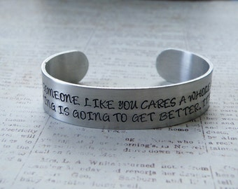 Unless Someone Like You Cares A Whole Awful Lot, Nothing Is Going To Get Better. It's Not Dr. Seuss The Lorax Stamped Bracelet