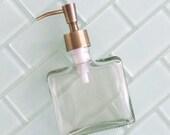 Boxy Brass Soap Dispenser