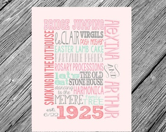 Custom • Family • 8x10 Printable Typography • Your Wording & Colors