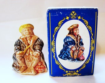 Old King Cole Wade Nursery Rhyme Figurines, Large Wade Figurine, Wade Whimsies, Made in England with Box