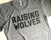 Raising Wolves - Mens / Unisex - Wolf Tee - Dad Life - Dad Tee - Wolf Dad