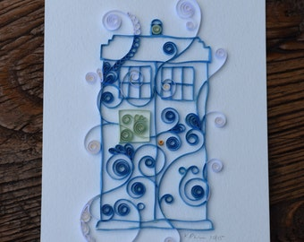 Quilled Paper: Doctor Who's Tardis