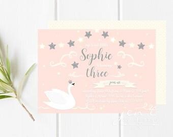 Swan Invitations - Swan Princess Invitations