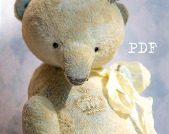 OOAK Artists Teddy Bear pattern, pdf pattern, teddy pattern, teddy bear pattern, plush bear, soft toy pattern