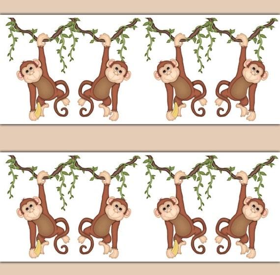 MONKEY BORDER DECAL Wall Art Safari Jungle Animal Nursery