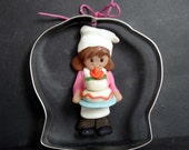 Baker Sous Chef Hat Birthday Cake Christmas Ornament Cookie Cutter Polymer Clay Milestone Cake Topper Apron Delivery Driver Wedding Bakery