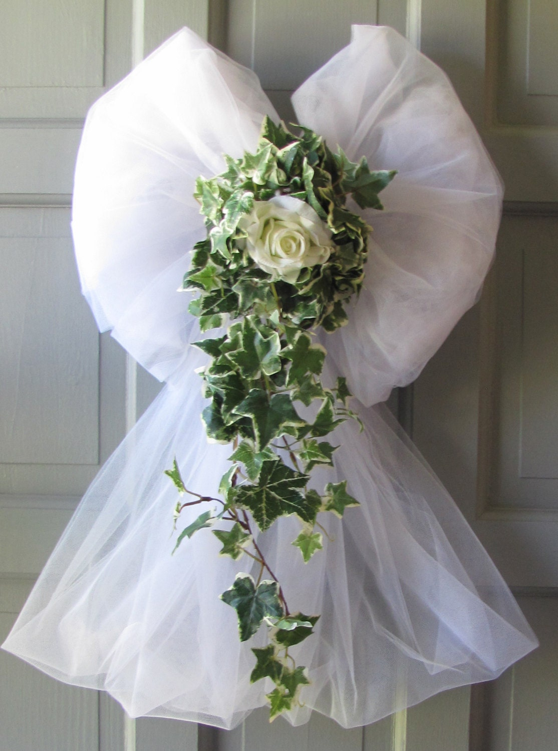 Wedding Decorations Rose Ivy Tulle Bows by