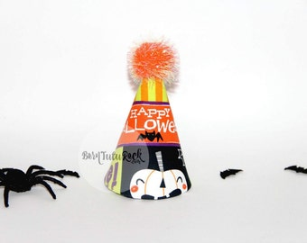 Halloween Party Hat // Halloween Birthday Hat // Mini Party Hat // by Born TuTu Rock