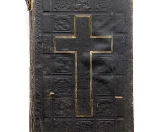 Vintage German Gospel Book Old German Shrift Year 1910 1916 Gesangbuch Evangeliar Poket Size Holy Bible