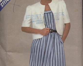 Stitch 'N Save Pattern 8486--Uncut--Jacket & Dress--Size 6-8-10