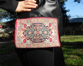 Daytime Bag, Ethnic Boho Bag, Hip Pouch, Women Shoulder Bag, Fabric Purse, Mother's Day Gift, Anatolian Motifs