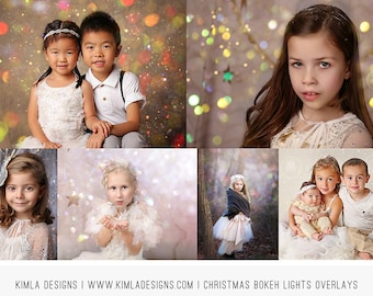 Christmas Bokeh Light Overlays