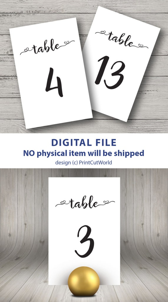Invaluable image with free printable table numbers 1-30