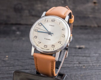 Vintage Pobeda mens watch, vintage mens watch, soviet mechanical watch, vintage russian watch, ussr cccp