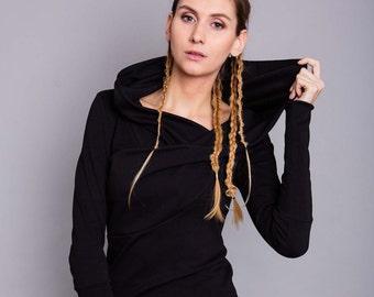 """Hooded Sweatshirt """"Dandelion"""", black"""