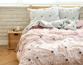 """Soft Stars Cotton Fabric, Pink Cotton Fabric - 44"""" Wide - Fabric By the Yard 85856"""