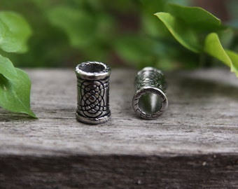 Stainless Steel Tube Dreadlock Bead Beard 6mm Hole (1/4 Inch)
