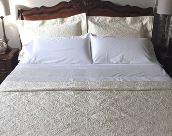 Whole Cloth Bed Quilt Made w/ Soft Cotton