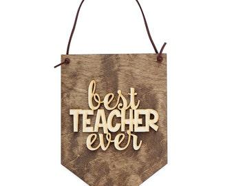 Teacher Gift Ideas - Teacher Appreciation Week - Back to School Present - Teacher Quotes - Classroom Decor - Desk Decor Sign - Teaching Sign