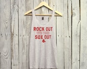Red Sox Tank. Rock Out With Your Sox Out. Boston Red Sox. Boston Tank.
