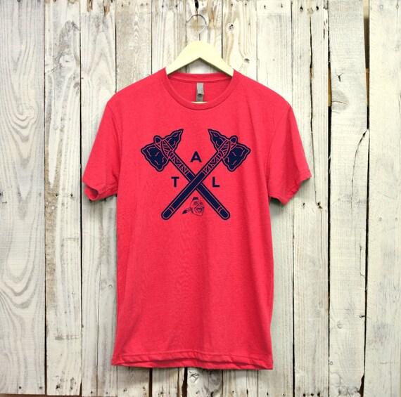 atlanta braves shirt atl shirt atlanta braves by. Black Bedroom Furniture Sets. Home Design Ideas