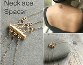 Layered necklace spacer clasp, gold, silver or Rose gold, no more tangle, no more mess. Layering magic!