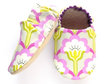 Flowers Baby Girl Shoes, Soft Sole Shoes, Baby Booties, Baby Girl Soft Shoes, Flower Baby Shoes, Slip On Baby Shoes, Baby Girl Gift