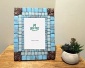 Blue Picture Frame / 4 x 6 Photo Frame / Beach House Decor / Gift Idea