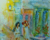 "FREE SHIPPING original watercolor painting, ""Montmartre"" 8x10 NOT a print"