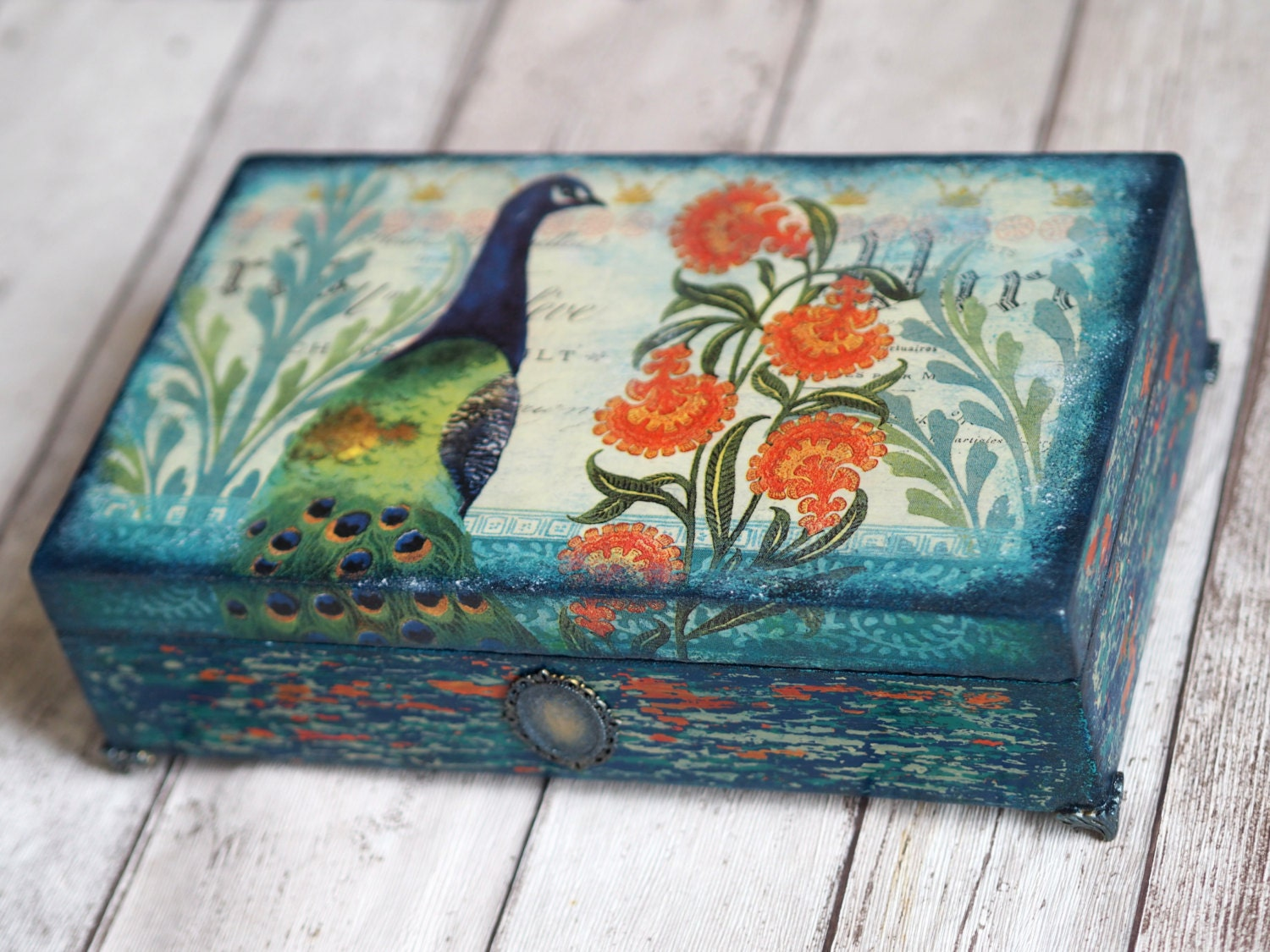 Home Decor Box Peacock Gift Peacock Home Decor by