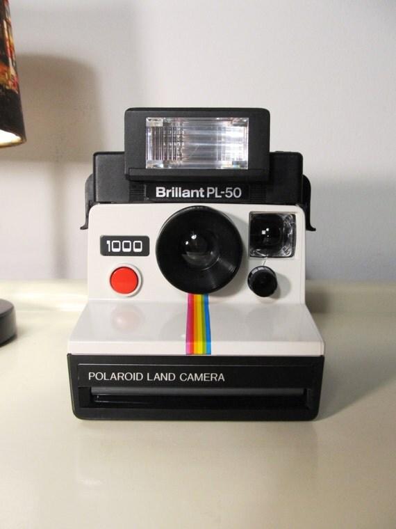 vintage polaroid 1000 rainbow land camera sx 70 type instant. Black Bedroom Furniture Sets. Home Design Ideas