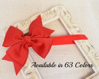 Red Bow Headband, Baby Bow Headband, Bow Headband, Girls Headbands, Toddler Headband, Bow Headband Baby, Hairbows, Infant Headbands, HB, 600