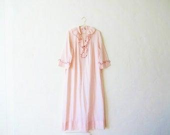 Vintage Christian Dior Pink Ruffled Nightgown - Size Medium