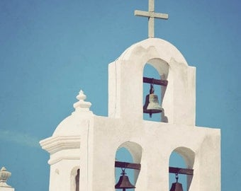 Southwestern art, Southwest decor, Arizona photography, Tucson, San Xavier Mission, Catholic, Spanish art - Mission Bells