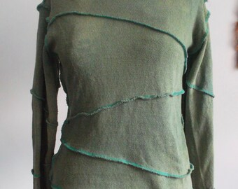 Upcycled Green Hoodie