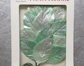 Mint LEAVES, Prima Leaves, Prima Sweet Peppermint, Frosted Mint Leaves, Pastel Mulberry Leaves, Mulberry Leaves, Glittered Leaves, Leaves