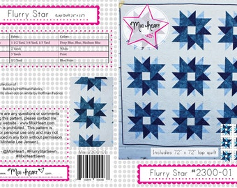 Flurry Star PDF Quilt Pattern
