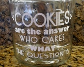 Personalized COOKIE Jar CUSTOM Glass Cookie Jar Design yourself DIY Cookie Jar Wedding Candy Jar Glass Container Customized jar w/ lid 1 gal
