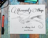 Coloring Book Mermaid Hugs