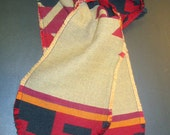 Southwest Aztec Pattern Fringed Scarf Navajo Native American