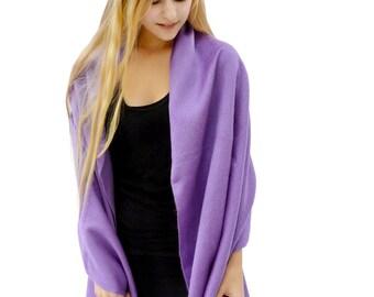 Light Purple Baby Alpaca Shawl, Soft Wool Scarves, Lavender Scarf, Fringed Scarves, Warm Winter Scarves, Fleece