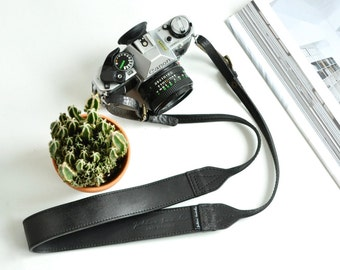 SOLD OUT The Professional Black Leather Camera Strap, Men's Camera Strap Quality Leather Camera Strap, Stylish Leather Camera Strap