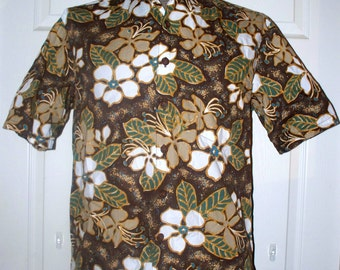 Hawaiian Shirt by Kahala - Mens Hawaiian Shirt - Vintage - Size M - 100% Cotton