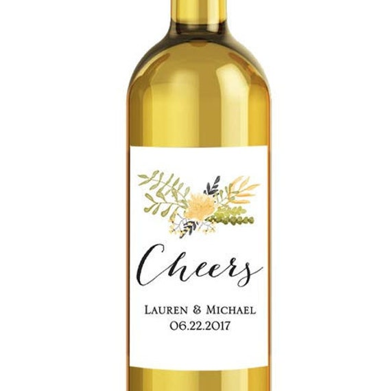 Printable Wine Bottle Labels: Items Similar To Printable Wine Bottle Label For Wedding