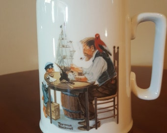 "1985 ""For A Good Boy"" Norman Rockwell Beer Mug"