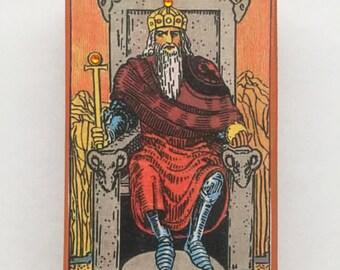 Rider Waite Tarot The Emperor Altered Matchbox