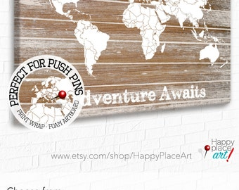 Usa map national parks slate edition framed pin map ready customised canvas world map travel map push pin travel map digital download gumiabroncs Images