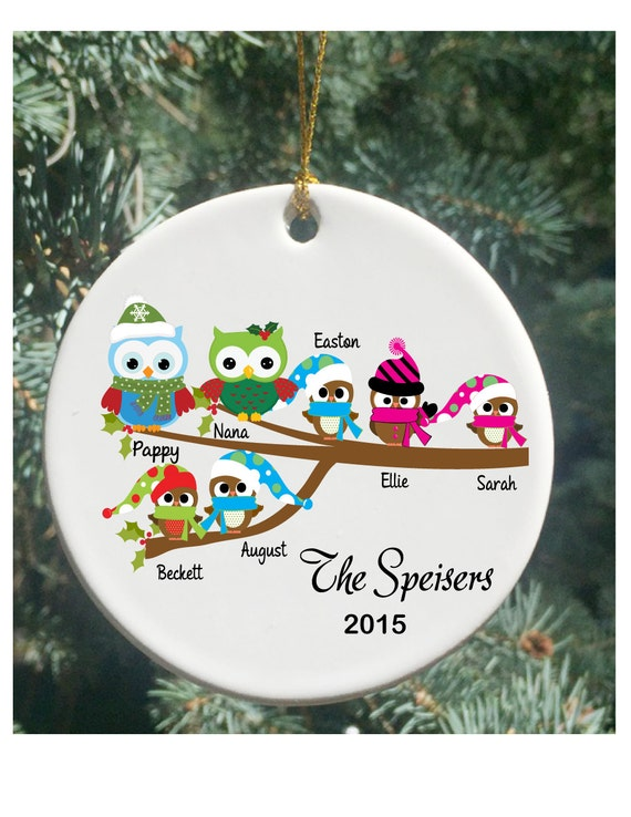 Large family personalized ornament
