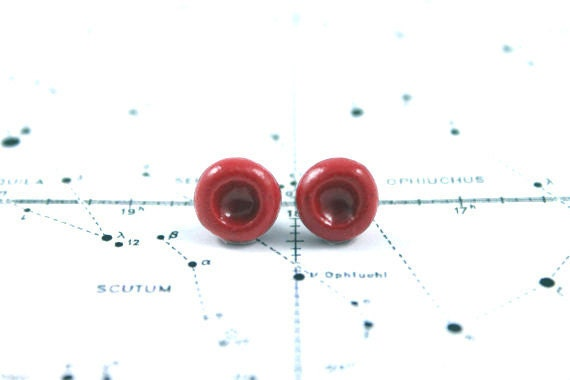 Red Blood Cell Earrings